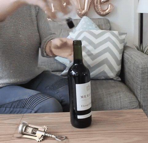 Als sie versprach, nur noch ein Glas täglich zu trinken, wusste niemand, was sie sich besorgt hatte. :)