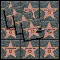 "Put your guest's name in a star and create your own stars of fame party pack. Our easy to peel and place stars are 12"" x 15"" and look like the stones.  Add each of your guests names and make your own star studded walk. Use as placecards on seats or as decorations for walls.  Our Stars of Fame party pack has a total of 12 stars plus a black Sharpie Marker Pen to customize your Stars of Fame with each of your guests.  Our  12"" x  15"" Stars of Fame stars come value packed with 12 stars per…"