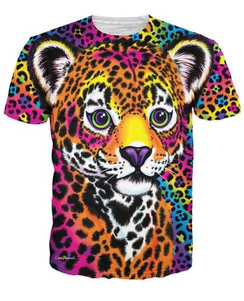 RageOn has teamed up with Lisa Frank to bring you a new line of officially licensed, all-over-print apparel! Get this vibrant Hunter T-Shirt today, only at Rage
