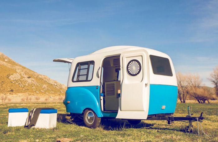 Jo, den här charmiga husvagnen rymmer 5 rum och lika många sovplatser - Sköna hem