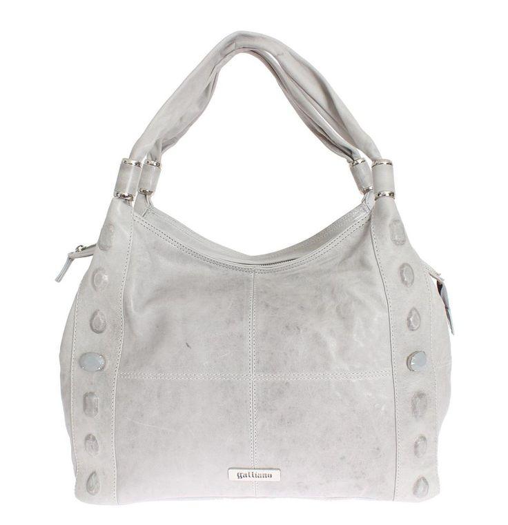 GALLIANO Gray Leather Shoulder Bag Handbag Hobo #cf-color-grey #cf-size-medium #grey