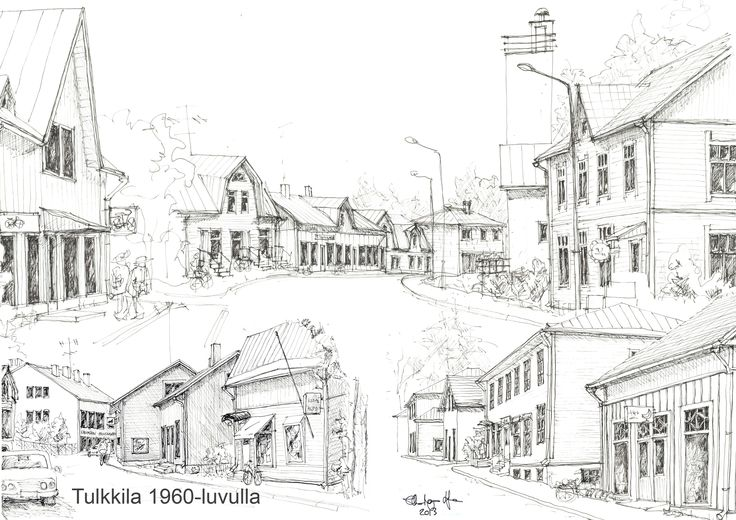 Tulkkila 1960 Illustration by Ulla-Maija Lilja 2013