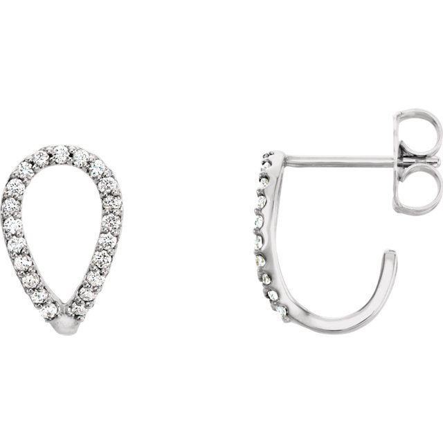 Pear Shape Diamond Earrings: 0.20 carats total weight diamond earrings. Simple and for every day wear! Love these earrings