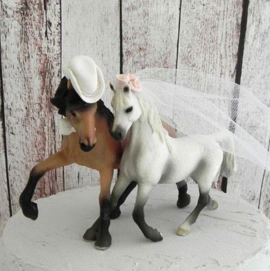 Awesome equestrian and horse cake topper!