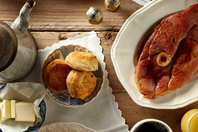 This is a basic country ham recipe, with red eye gravy. This easy country ham is fried with butter and coffee, for an easy meal or breakfast.