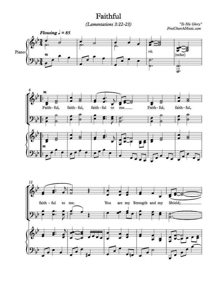Free Choir Sheet Music Faithful Sheet music, Praise