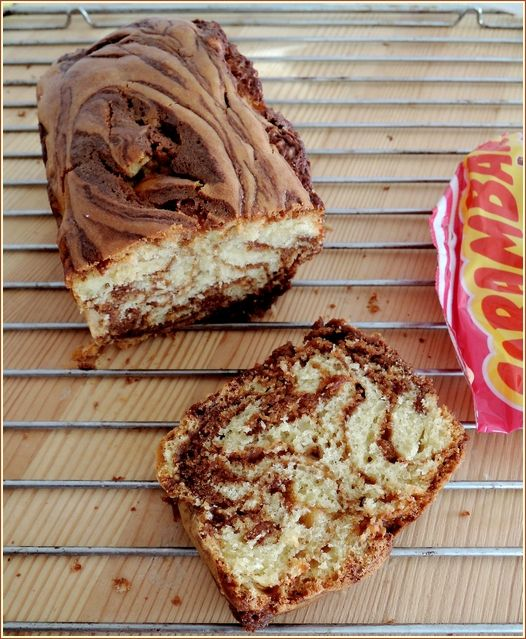 Cake marbré aux carambars