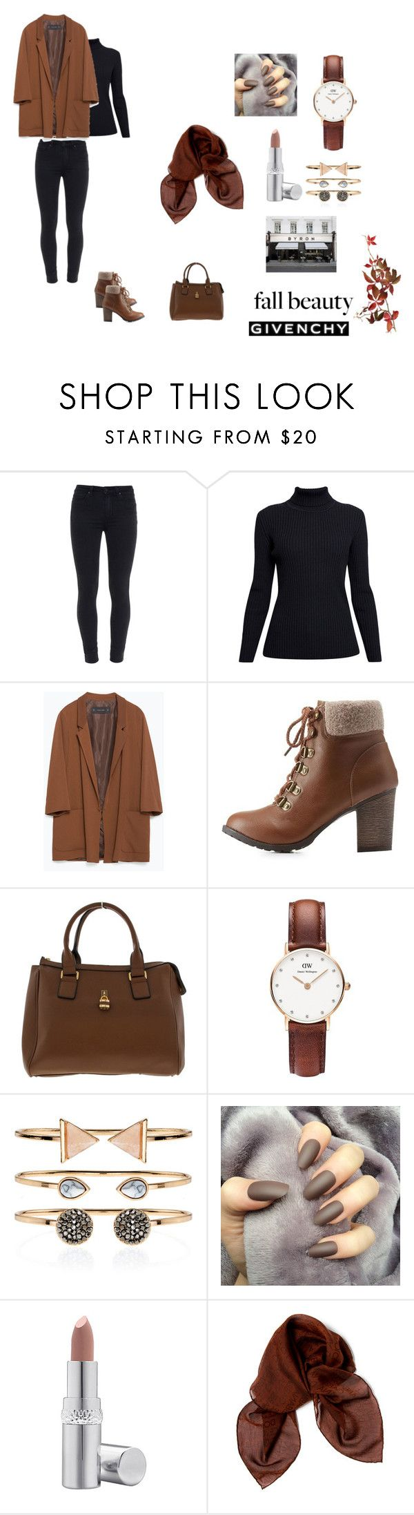 """""""Laila (16)"""" by hipsterfashionista1 ❤ liked on Polyvore featuring Paige Denim, Rumour London, Zara, Charlotte Russe, Daniel Wellington, Accessorize, La Prairie, Dolce&Gabbana, BYRON and Givenchy"""