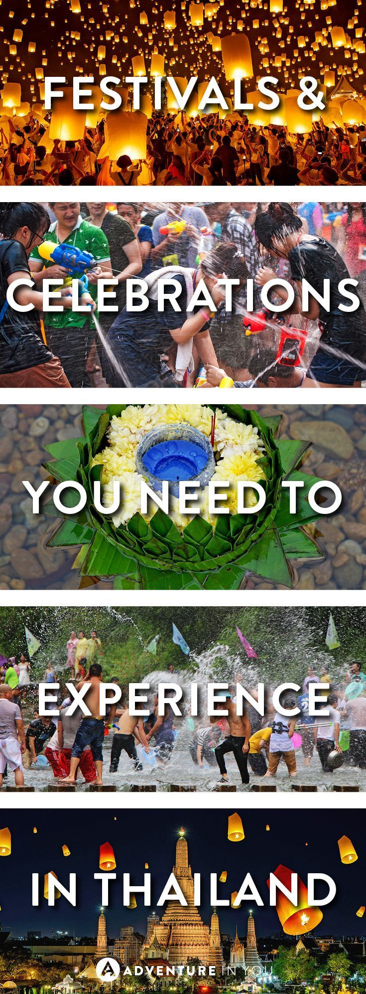 Thailand Travel | Ever wanted to visit Thailand for its celebrations and festivals? Here is a guide to the Loi Krathong light festival and the Songkran water festival.