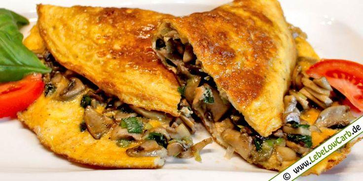 Low Carb Rezept - Champignon-Omelett
