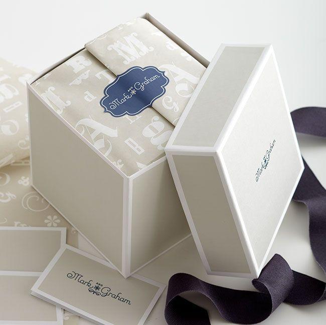 Williams-Sonoma: Mark and Graham Gift Box + Tissue Paper #morladesign #branding #identity