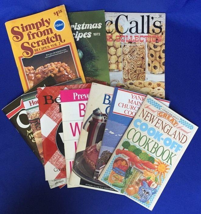 Lot of Vintage Pamphlet Cookbooks 60+ ,Pillsbury, Betty Crocker, Advertising
