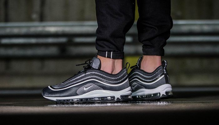 9af59671ffade3 NIKE AIR MAX 97 ULTRA  17 PREMIUM - PURE PLATINUM   DARK GREY TRAINERS ALL