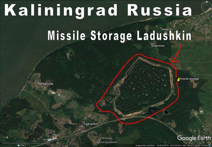 Kaliningrad Russia, huge missile storage area at Ladushkin.