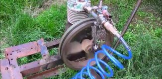 DIY Video : How to build a Homemade Steam Engine from an Old Compressor that can…