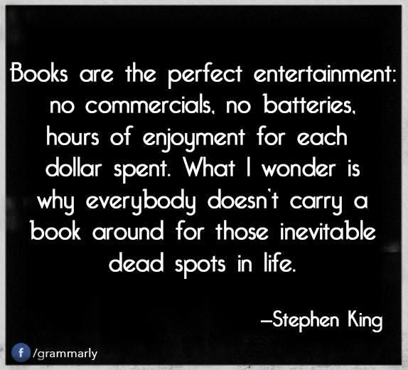 People wonder why I have 7 books going at one time, why I have one in my purse and car at all times, and why I can't put them down; if I have to explain, they just don't get it.