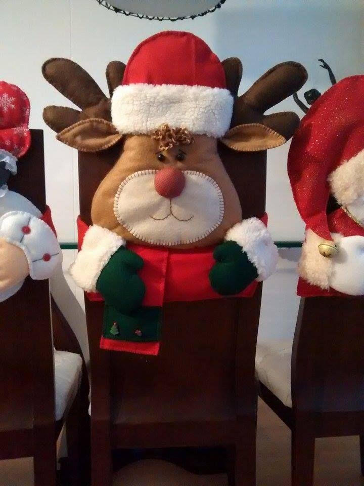 Espaldares navideños para sillas