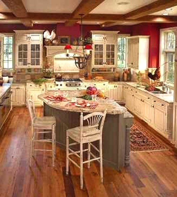 Country Cottage Red Kitchen