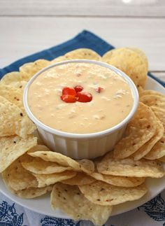 Homemade queso. You can make it without Velveeta and Rotel. It's easy!