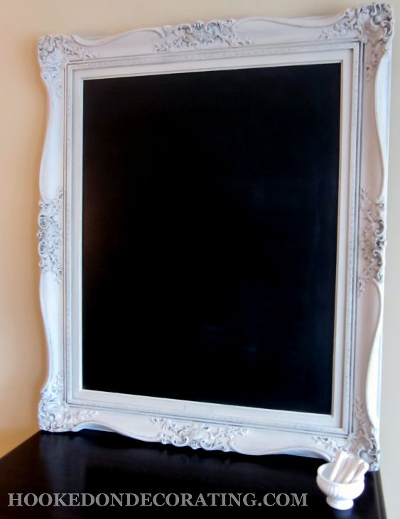 Large picture frame to chalkboard – the reveal & tutorial