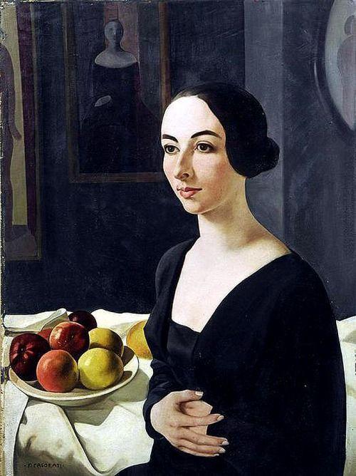 Felice Casorati - Ritratto di Hena Rigotti, 1924 SULPHURIC[LIKE]