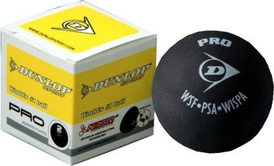 Dunlop Pro 2 Dot Squash Ball (Pack of 1, Yellow, Black)  Playing squash not only keeps you fit but also refreshes your mind and body. This Dunlop Pro 2 Dot Squash Ballhas been designed specifically for women who play squash at a more advanced level. Offers consistent performance This squash offers you consistent performance, thus allowing you to play a good and powerful game throughout.