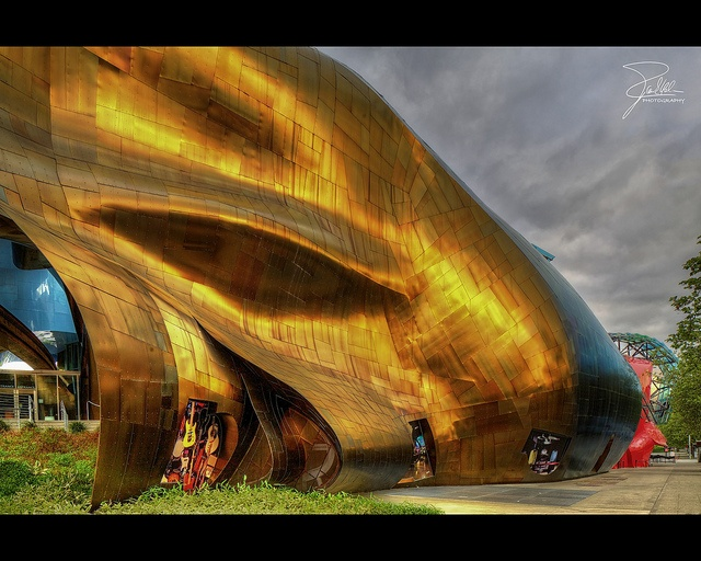 Experience Music Project And Science Fiction Museum And Hall Of Fame By  Frank Kehren, Via