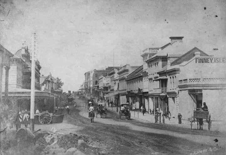 Queen St,Brisbane in 1870.