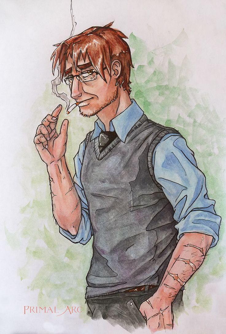 'Eric Nye the Phone Guy', watercolour. #fnaf #fivenightsatfreddys
