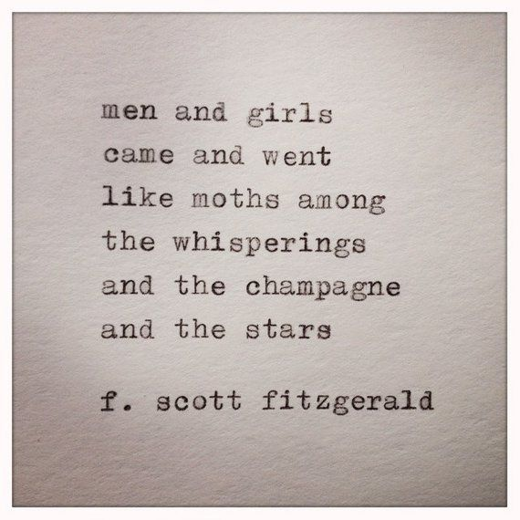 Great Gatsby Quote Typed On Typewriter Great Gatsby Quotes