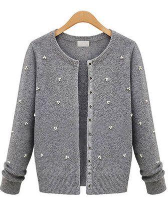 Европе стиль женщин ногтей шарик однобортный длинный рукав свитер пальто
