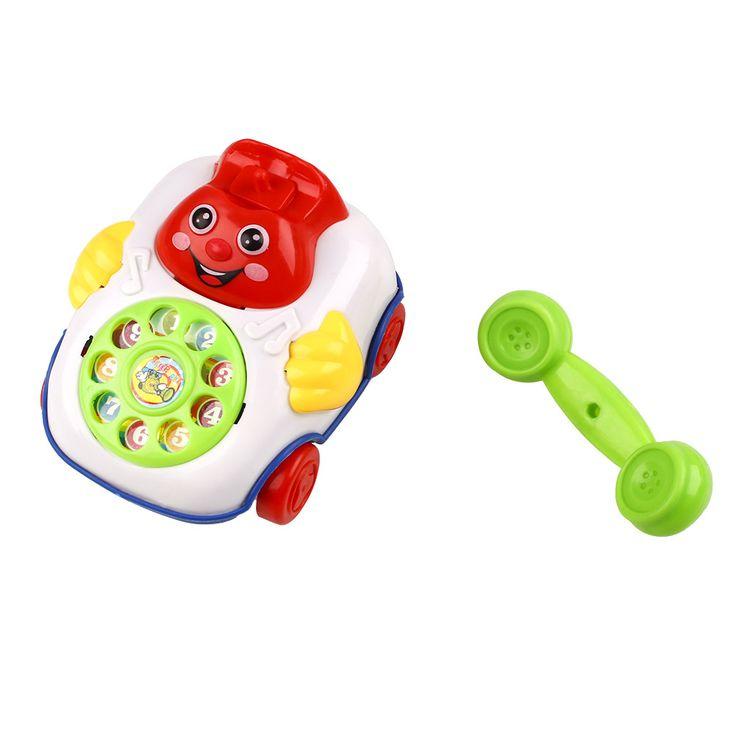Capretti del bambino di Musica Per Bambini Volto sorridente Del Fumetto Del Telefono Developmental Giocattoli