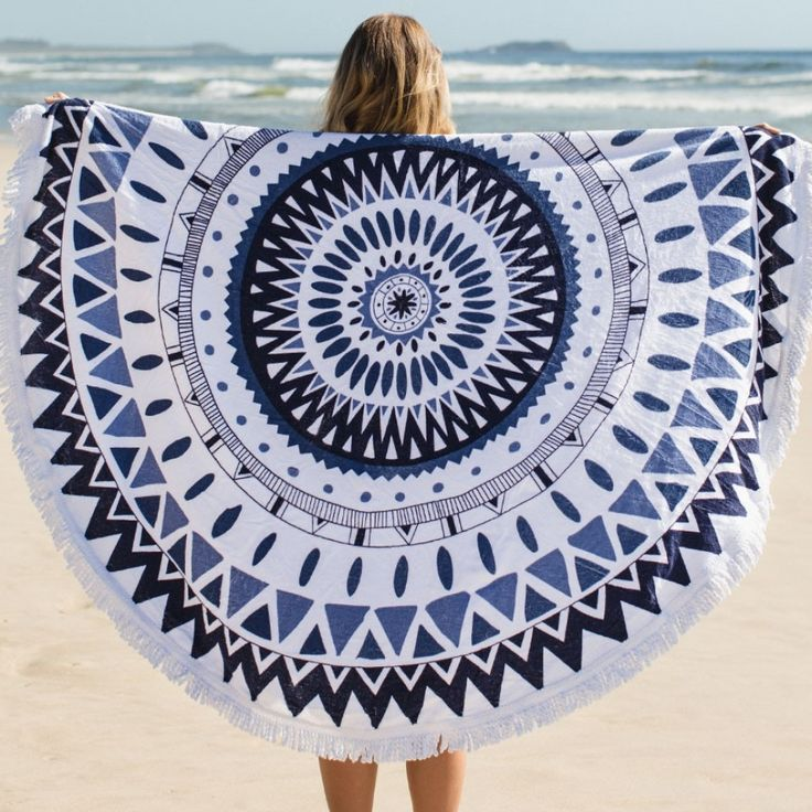 This company has the best beach towels! I never knew I wanted a round towel until now. Check them out :) Majorelle Towel - The Original 'Roundie' - The Beach People