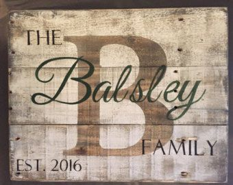 Custom Wood Name Sign Pallet Last Name Sign by TheNaughtyMutt