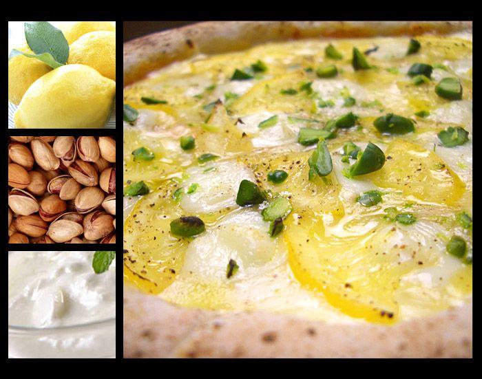 広島瀬戸田産レモンの塩漬けとモッツァレラとリコッタチーズのピッツァ【塩レモン】:イタリア食堂ピザプティギャルソン