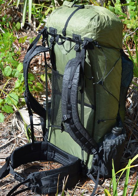 Ultralight Pack:Some sub 600 gram ultralight packs; pictured Zpacks 'Arc Blast' 595 grams with load transfer - and a dry back! Ultra Light Hiking Backpacking