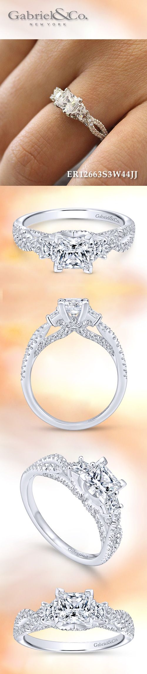 Gabriel & Co. - Voted #1 Most Preferred Bridal Brand. Discover your future Three Stone Princess Cut Engagement Ring right here.