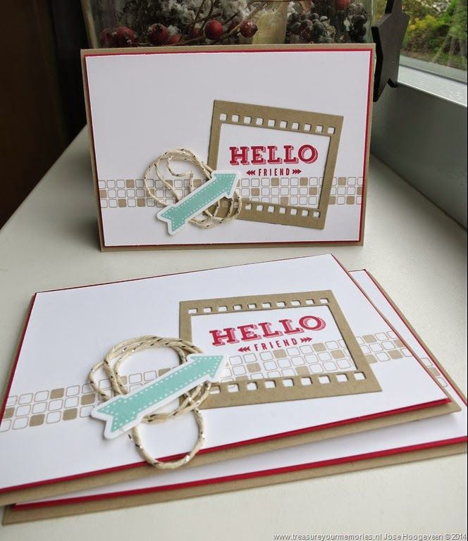 www.treasureyourmemories.nl Stampin Up, Peachy Keen, On Film Framelits