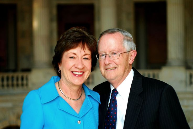 Susan Collins, the Senator from Maine & Thomas Daffron, a lobbyist & consultant marry. The New York Times.