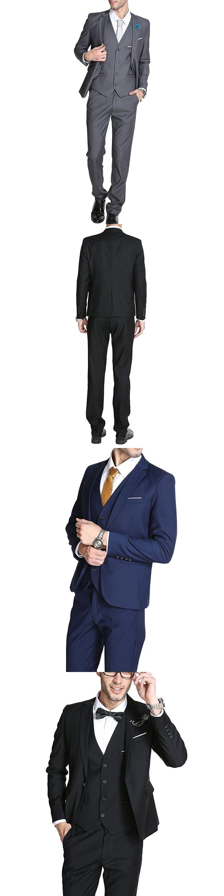 Mens One Button Suits 3 Piece Suit costume homme 2017 Slim Fit Suits Plus Size XS-6XL Men White Wedding Suit (Jacket+Vest+Pants)