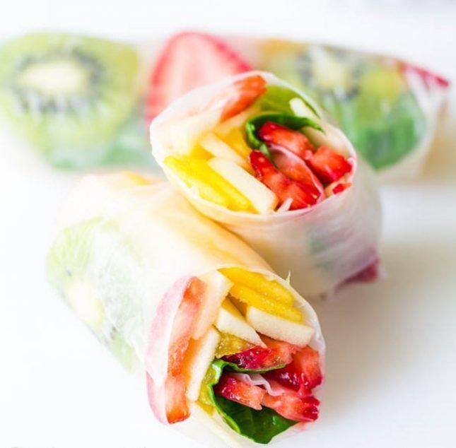 Fruit Spring Rolls. Mmmmm!