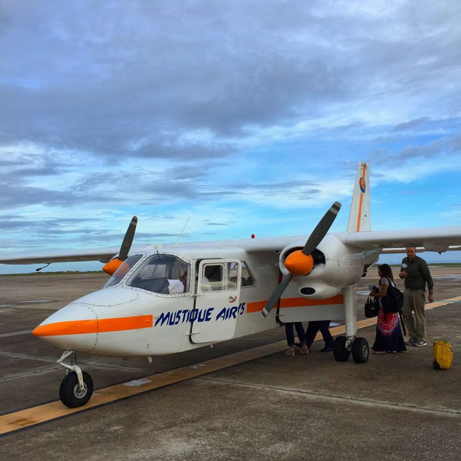 chartered flight to St. Vincent and the Grenadines with Mustique Airlines