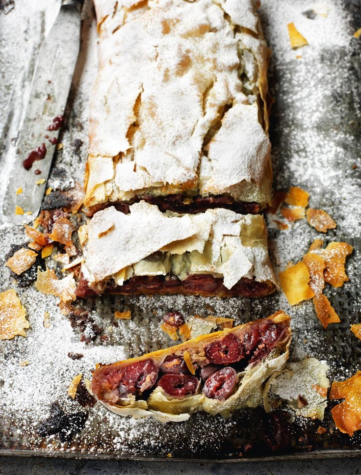 Croatian Sour Cherry Strudel - The Happy Foodie