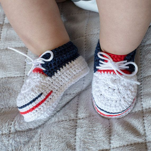 4th of July Boy Shoes, Baby Boy Shoes, Crochet Boy Shoes, Crochet Sneakers, 4th of July Booties, Fourth of july Boy Shoes, Boy Booties