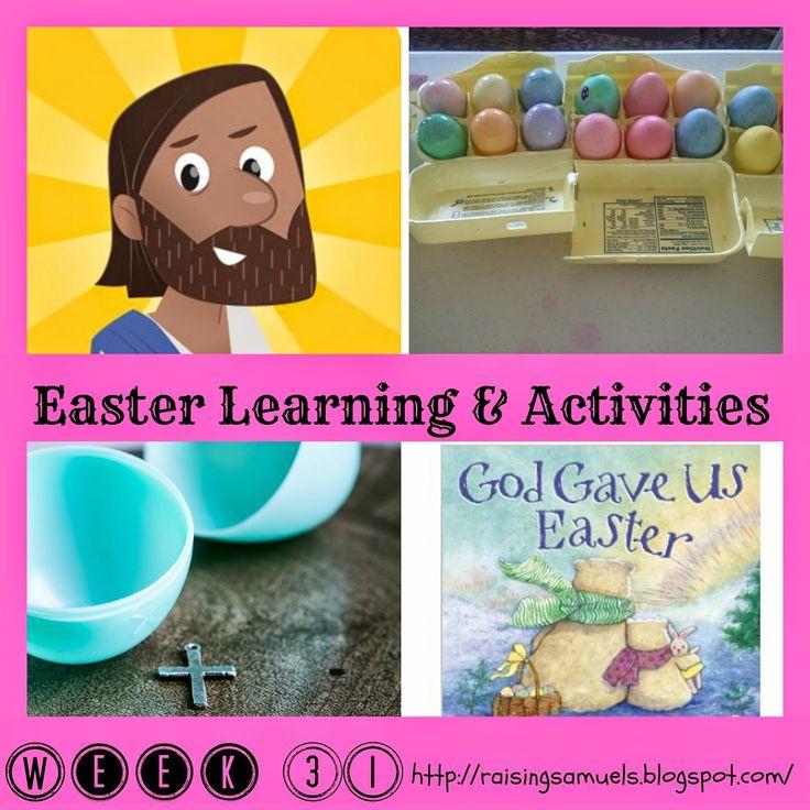 Raising Samuels Homeschool: Easter Learning & Activities (Homeschool Week 31)