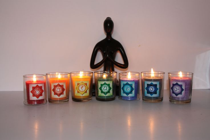 Chakra candles available in pure soy wax or palm . All scented with pure essential oil relevant to each chakra and individually boxed. Each candles comes with a card with chakra information and an affirmation .