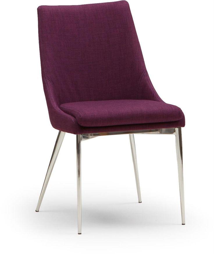 Soho helklädd stol i tyg med ben i metall.