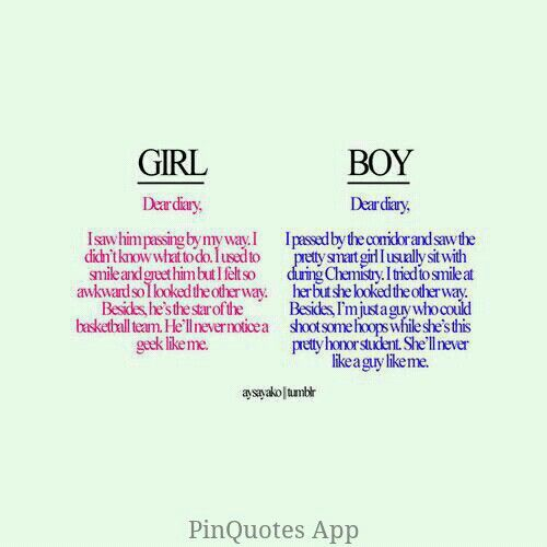 Girl vs. Boy diary Quotes Pinterest Boys, Girls and Diaries