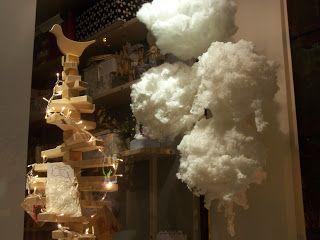 χιονόμπαλες και ξύλινη διακόσμηση