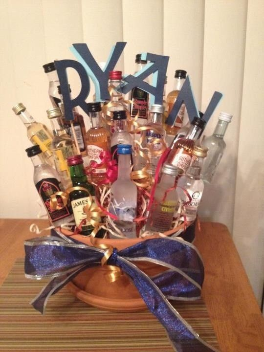 21st Birthday Gift Basket Ideas : Best liquor gift baskets ideas on diy st